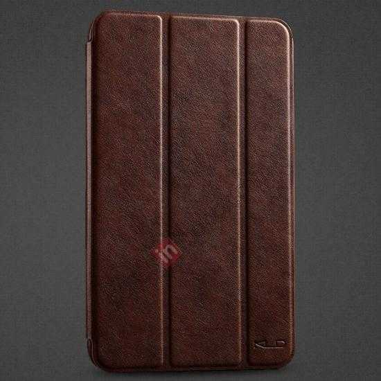 wholesale KLD Oscar Series Tri Folded Leather Stand Case for Samsung Galaxy Tab 3 Lite 7 T110 - Coffee