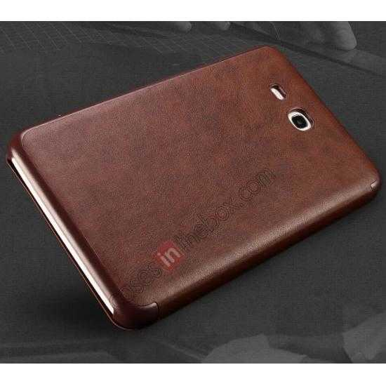 cheap KLD Oscar Series Tri Folded Leather Stand Case for Samsung Galaxy Tab 3 Lite 7 T110 - Coffee