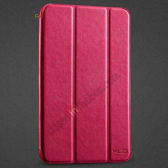 wholesale KLD Oscar Series Tri Folded Leather Stand Case for Samsung Galaxy Tab 3 Lite 7 T110 - Red