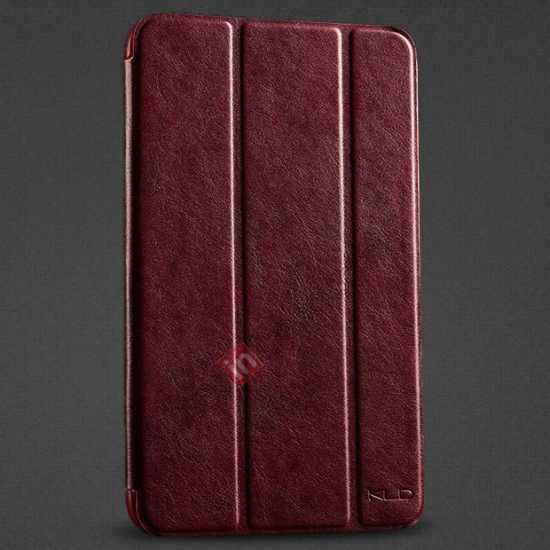 wholesale KLD Oscar Series Tri Folded Leather Stand Case for Samsung Galaxy Tab 3 Lite 7 T110 - Wine Red