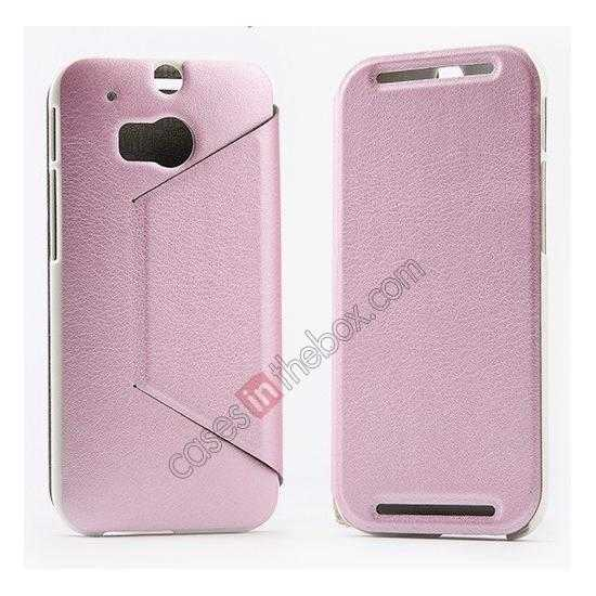 top quality KLD Swift Series Flip Thin Stand PU Leather Case for HTC One 2 M8