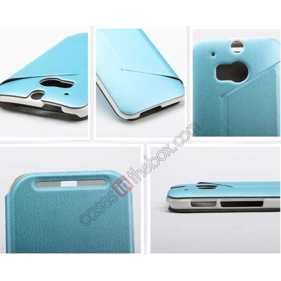 high quanlity KLD Swift Series Flip Thin Stand PU Leather Case for HTC One 2 M8