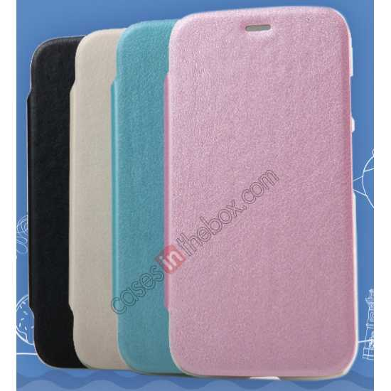 discount KLD Swift Series Flip Thin Stand PU Leather Case for Moto G