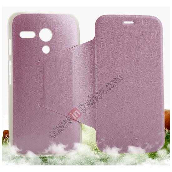 cheap KLD Swift Series Flip Thin Stand PU Leather Case for Moto G