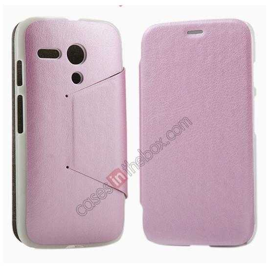 top quality KLD Swift Series Flip Thin Stand PU Leather Case for Moto G
