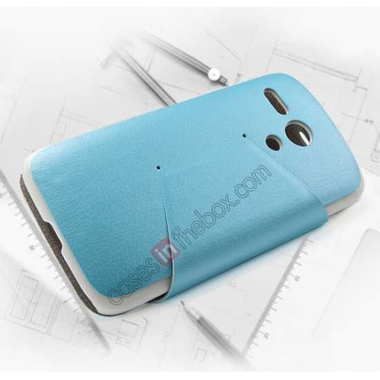 best price KLD Swift Series Flip Thin Stand PU Leather Case for Moto G