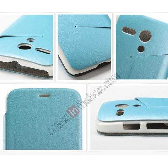 high quanlity KLD Swift Series Flip Thin Stand PU Leather Case for Moto G