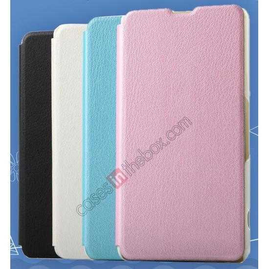 discount KLD Swift Series Flip Thin Stand PU Leather Case for Sony Xperia Z1 Mini M51w