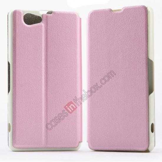 wholesale KLD Swift Series Flip Thin Stand PU Leather Case for Sony Xperia Z1 Mini M51w