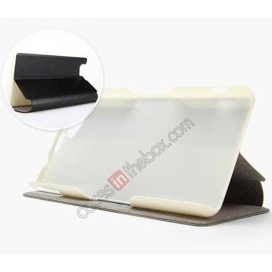 low price KLD Swift Series Flip Thin Stand PU Leather Case for Sony Xperia Z1 Mini M51w
