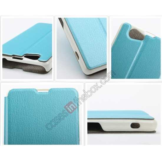 high quanlity KLD Swift Series Flip Thin Stand PU Leather Case for Sony Xperia Z1 Mini M51w