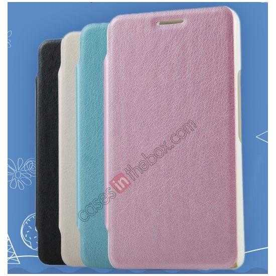 discount KLD Swift Series Flip Thin Stand PU Leather Stand Case for Sony Xperia E1