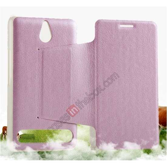 cheap KLD Swift Series Flip Thin Stand PU Leather Stand Case for Sony Xperia E1