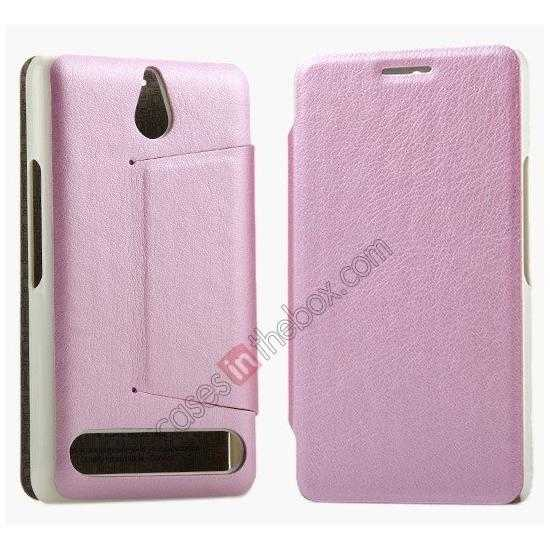wholesale KLD Swift Series Flip Thin Stand PU Leather Stand Case for Sony Xperia E1