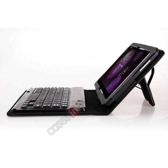 best price Leather Stand Case Cover + Wireless Bluetooth 3.0 Keyboard For Dell Venue 8 Pro Windows 8.1