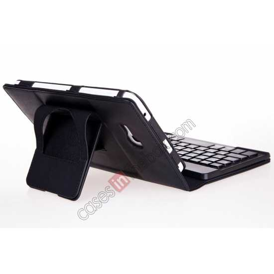 low price Leather Stand Case Cover + Wireless Bluetooth 3.0 Keyboard For Samsung Galaxy Tab3 Lite7/T110