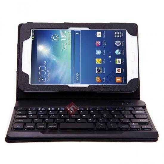 cheap Leather Stand Case Cover + Wireless Bluetooth 3.0 Keyboard For Samsung Galaxy Tab3 Lite7/T110