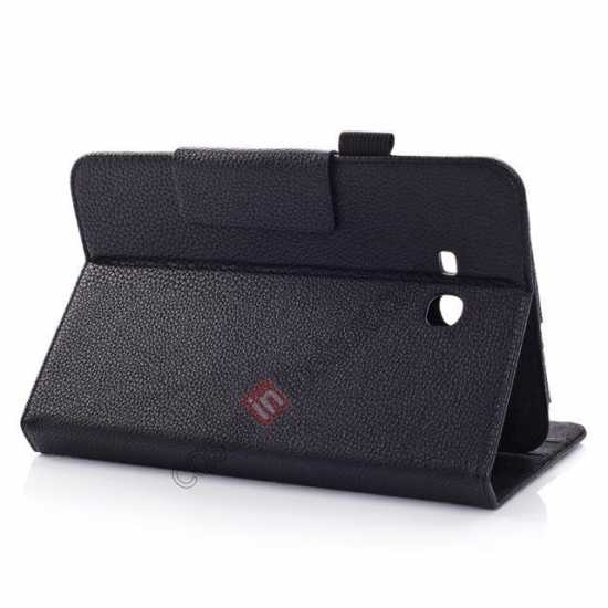 best price Litchi Grain Leather Stand Case for Samsung Galaxy Tab 3 7.0 Lite T110 T111 - Black