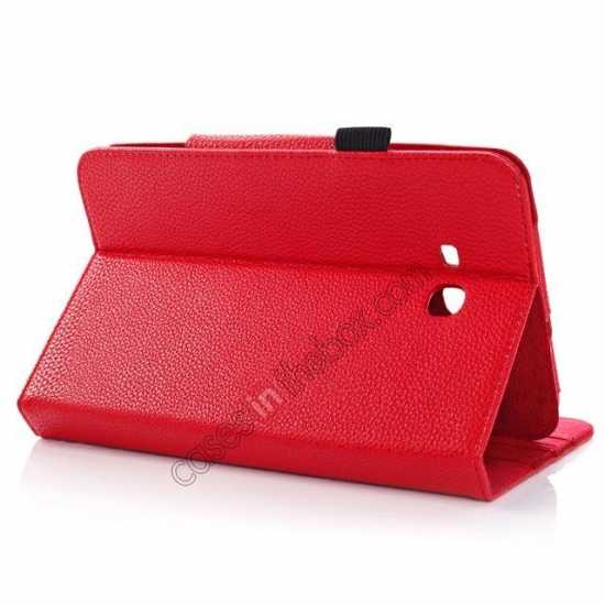 discount Litchi Grain Leather Stand Case for Samsung Galaxy Tab 3 7.0 Lite T110 T111 - Red
