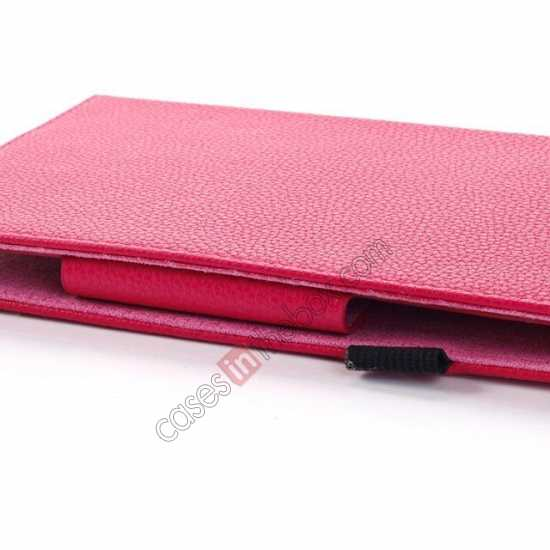discount Litchi Grain Leather Stand Case for Samsung Galaxy Tab 3 7.0 Lite T110 T111 - Rose