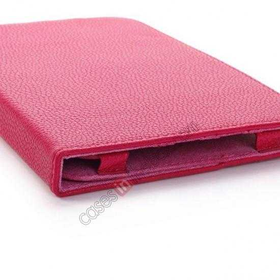 china wholesale Litchi Grain Leather Stand Case for Samsung Galaxy Tab 3 7.0 Lite T110 T111 - Rose