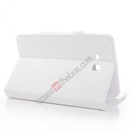 best price Litchi Grain Leather Stand Case for Samsung Galaxy Tab 3 7.0 Lite T110 T111 - White