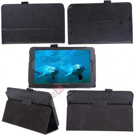 best price Litchi Pattern Leather Stand Case Cover for ASUS VivoTab Note8 M80TA