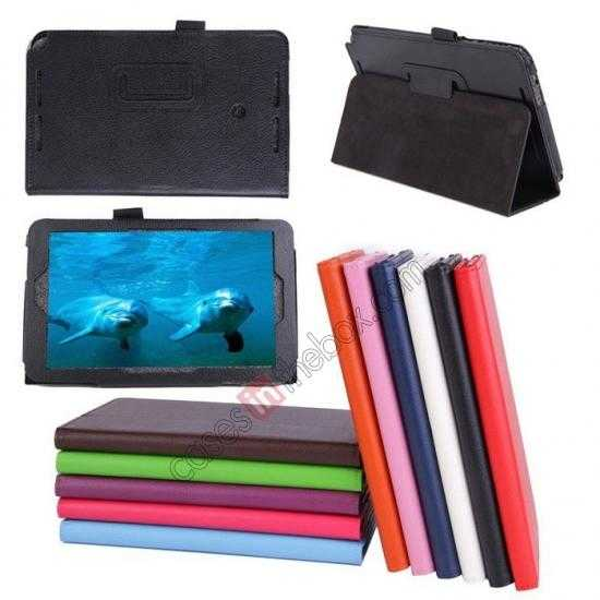 wholesale Litchi Pattern Leather Stand Case Cover for ASUS VivoTab Note8 M80TA