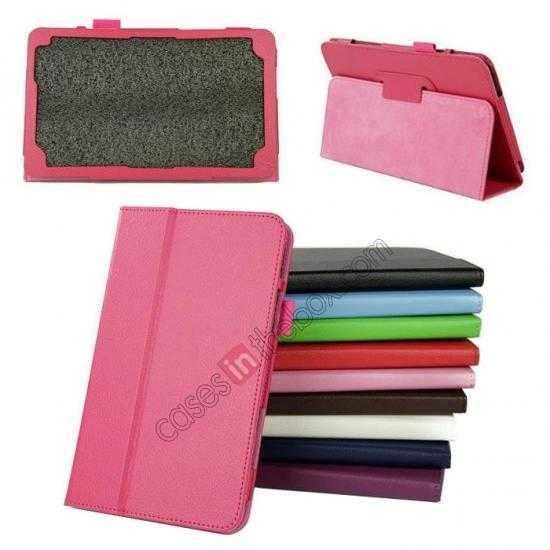 wholesale Litchi Pattern Leather Stand Case Cover for Dell Venue 8 Pro Windows 8.1