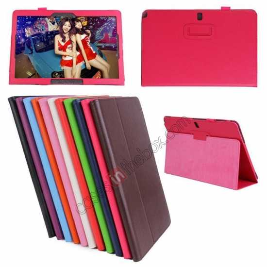 wholesale Litchi Pattern Leather Stand Case Cover for Samsung Galaxy Tab Pro 12.2 P900