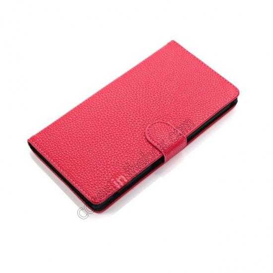 best price Litchi Skin Wallet Leather Case w/ Stand for Sony Xperia T2 Ultra - Rose