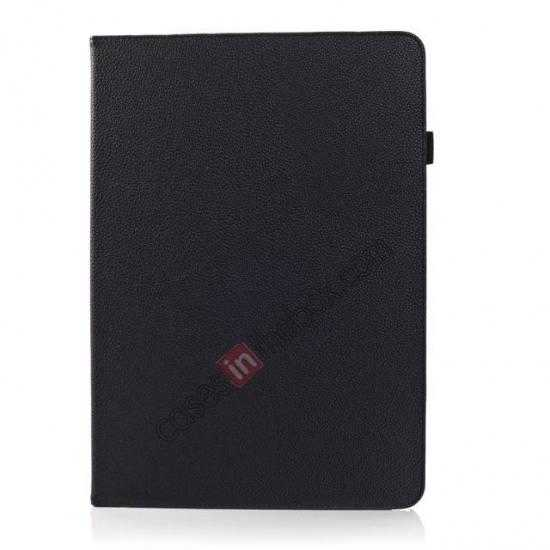discount Litchi Texture Flip Leather Book Folio Stand Case for Samsung Galaxy Tab Pro 12.2 P900 - Black