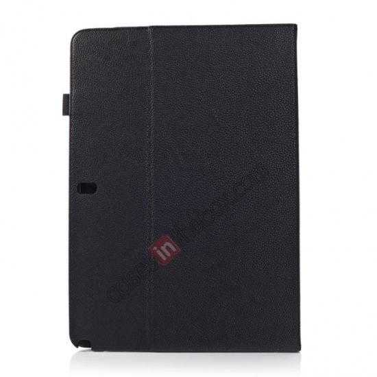 cheap Litchi Texture Flip Leather Book Folio Stand Case for Samsung Galaxy Tab Pro 12.2 P900 - Black