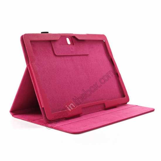 on sale Litchi Texture Flip Leather Book Folio Stand Case for Samsung Galaxy Tab Pro 12.2 P900 - Black