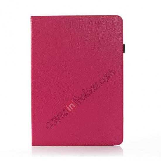 discount Litchi Texture Flip Leather Book Folio Stand Case for Samsung Galaxy Tab Pro 12.2 P900 - Rose