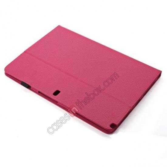 on sale Litchi Texture Flip Leather Book Folio Stand Case for Samsung Galaxy Tab Pro 12.2 P900 - Rose