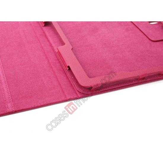 high quanlity Litchi Texture Flip Leather Book Folio Stand Case for Samsung Galaxy Tab Pro 12.2 P900 - Rose