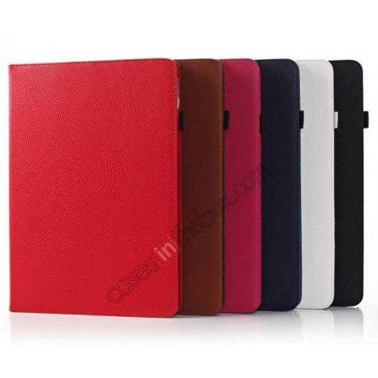 china wholesale Litchi Texture Flip Leather Book Folio Stand Case for Samsung Galaxy Tab Pro 12.2 P900 - Rose
