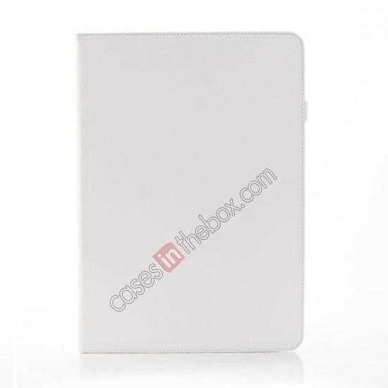discount Litchi Texture Flip Leather Book Folio Stand Case for Samsung Galaxy Tab Pro 12.2 P900 - White