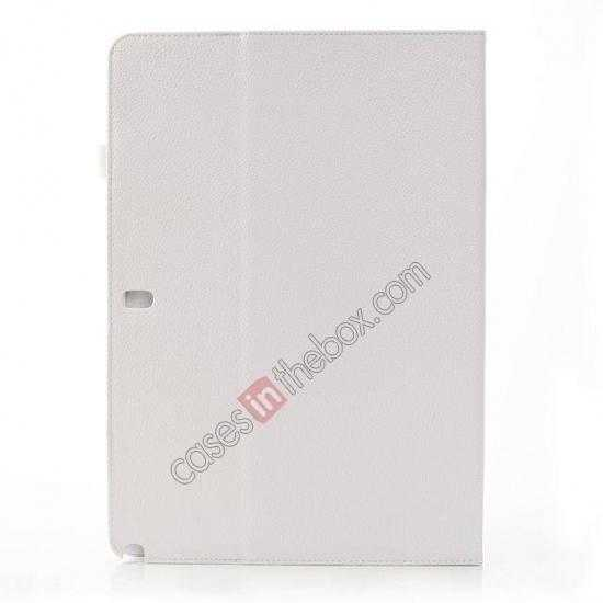 cheap Litchi Texture Flip Leather Book Folio Stand Case for Samsung Galaxy Tab Pro 12.2 P900 - White