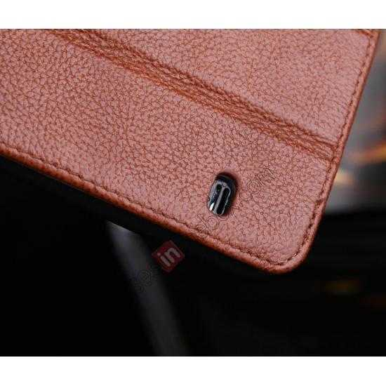 on sale Litchi Texture Genuine Leather Flip Case for Samsung Galaxy S5 G900 - Brown