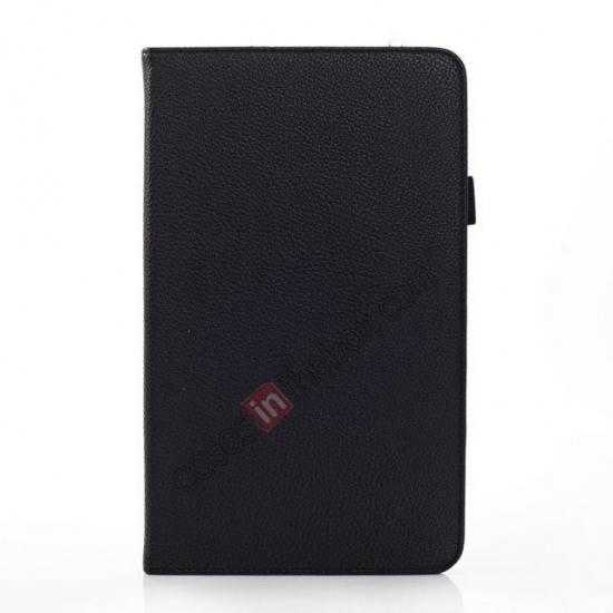discount Litchi Texture Leather Stand Case with Holder for Samsung Galaxy Tab Pro 8.4 T320 - Black