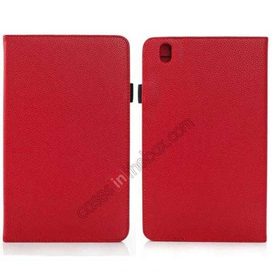 wholesale Litchi Texture Leather Stand Case with Holder for Samsung Galaxy Tab Pro 8.4 T320 - Red