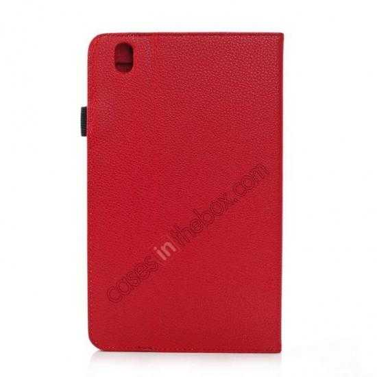 cheap Litchi Texture Leather Stand Case with Holder for Samsung Galaxy Tab Pro 8.4 T320 - Red