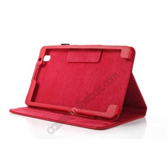 best price Litchi Texture Leather Stand Case with Holder for Samsung Galaxy Tab Pro 8.4 T320 - Red