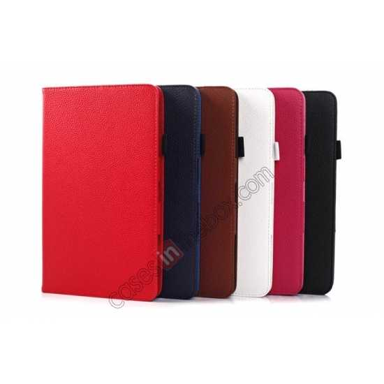 on sale Litchi Texture Leather Stand Case with Holder for Samsung Galaxy Tab Pro 8.4 T320 - Red