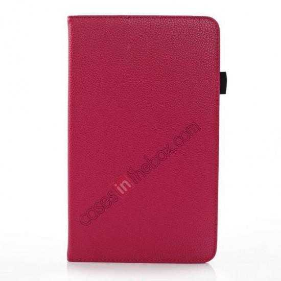 discount Litchi Texture Leather Stand Case with Holder for Samsung Galaxy Tab Pro 8.4 T320 - Rose