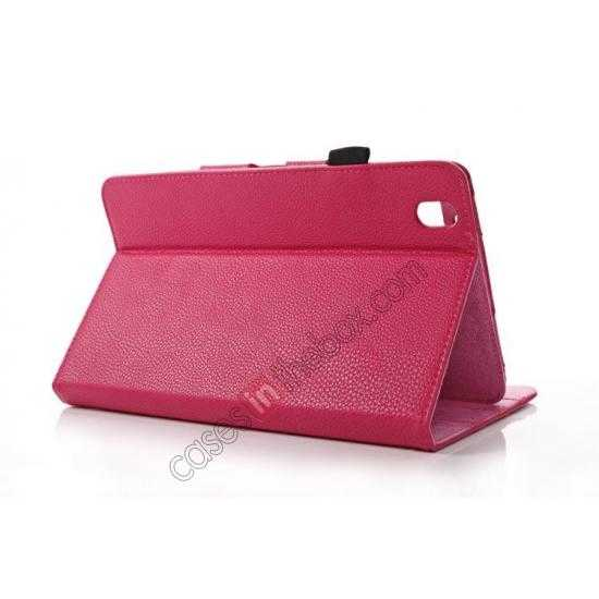 top quality Litchi Texture Leather Stand Case with Holder for Samsung Galaxy Tab Pro 8.4 T320 - Rose