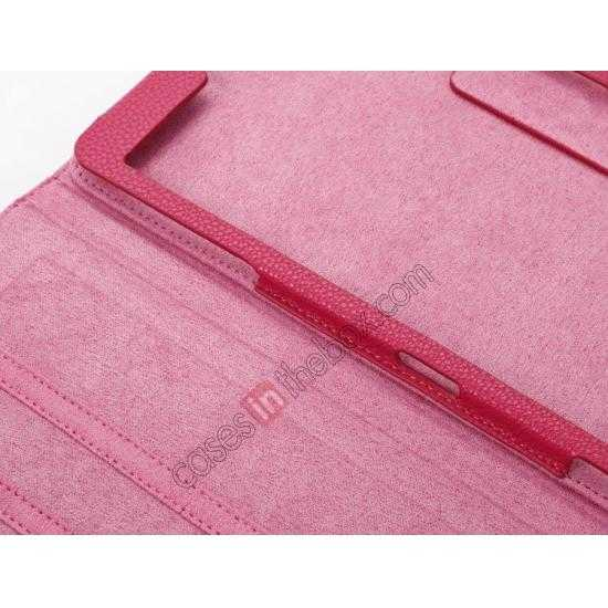 on sale Litchi Texture Leather Stand Case with Holder for Samsung Galaxy Tab Pro 8.4 T320 - Rose