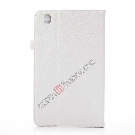 cheap Litchi Texture Leather Stand Case with Holder for Samsung Galaxy Tab Pro 8.4 T320 - White